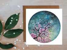 Load image into Gallery viewer, Cherry Blossom Blank Greetings Card
