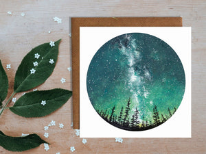 Forest Sky Greetings Card