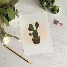Load image into Gallery viewer, Cactus Illustration Mini Print
