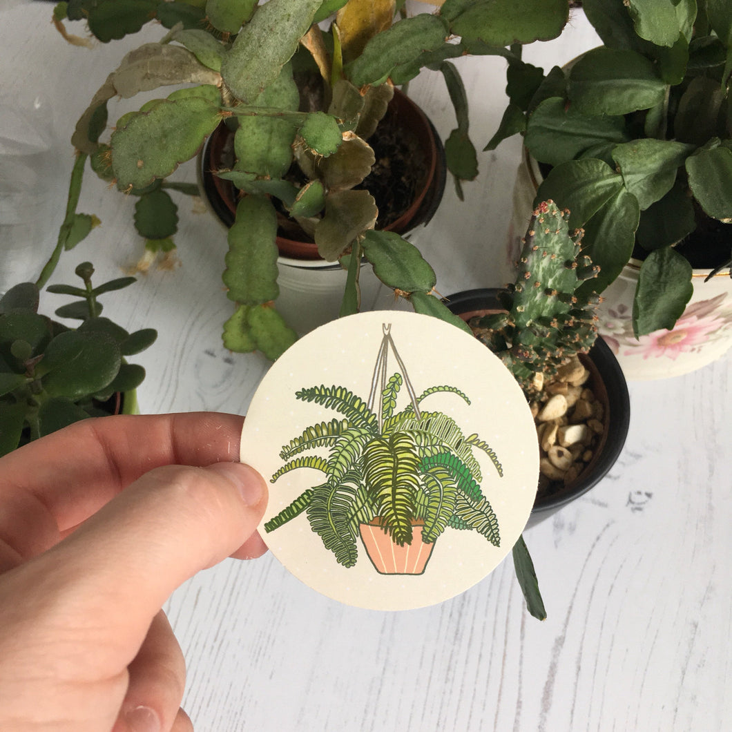 Fern Paper Sticker
