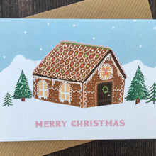 Load image into Gallery viewer, Gingerbread House Christmas Card