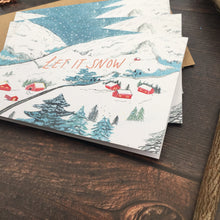 Load image into Gallery viewer, Let It Snow Christmas Cards - Pack of 4 | Eco-Friendly | Recycled | Set of 4 Cards