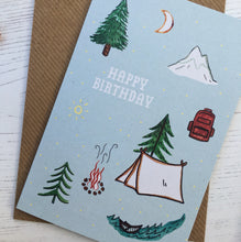 Load image into Gallery viewer, Birthday Camping Card