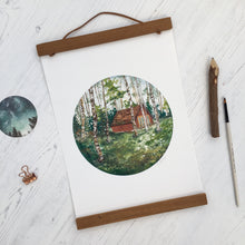 Load image into Gallery viewer, Highlands Cabin Print | Scottish Print | A4 Print