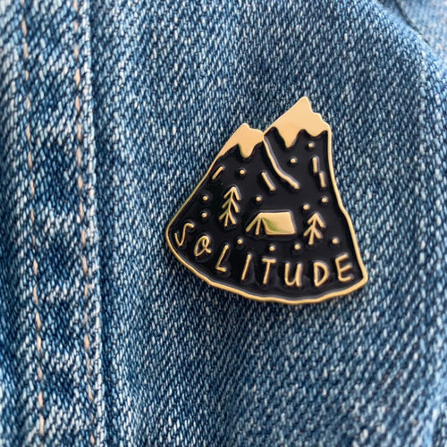 Solitude Enamel Pin