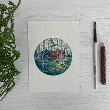 Load image into Gallery viewer, Scottish Highlands Cabin A5 Print