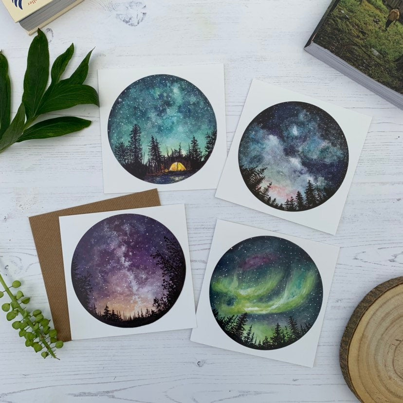Starry Sky Cards | Set of 4
