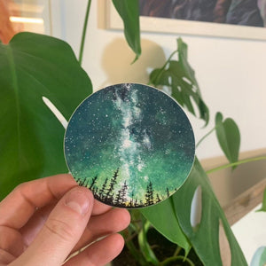 Forest Sky Scandinavian Sticker