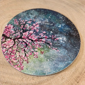 Cherry Blossom Vinyl Sticker