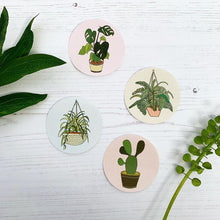 Load image into Gallery viewer, Set of 4 Plant Stickers