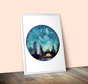 Limited-Edition Camping Giclee Print A2