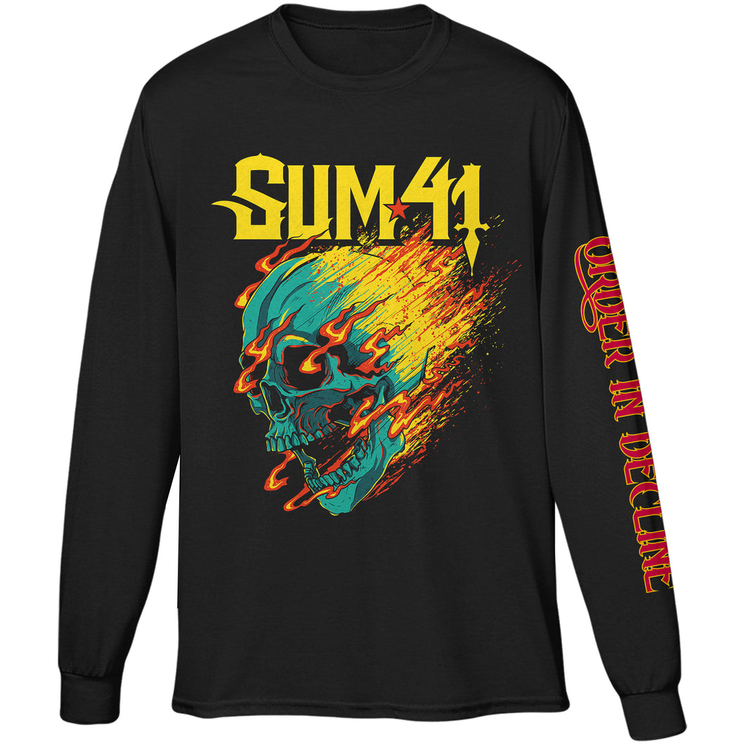 Flaming Skull Tour Tee
