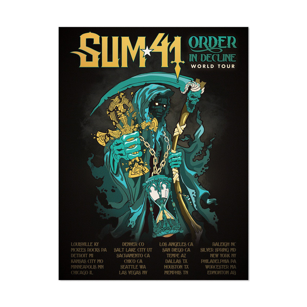 Order In Decline Tour Poster