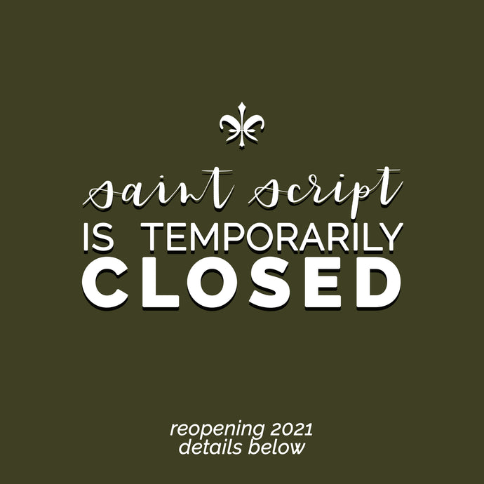 The reason why we temporarily closed...