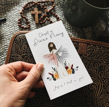 Load image into Gallery viewer, Chaplet of Divine Mercy Folded Prayer Card