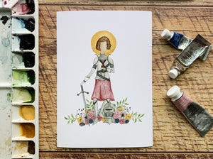Joan of Arc Print - WITHOUT NAME