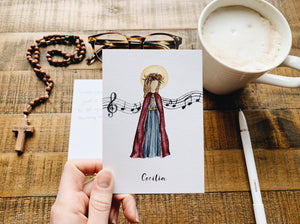 Saint Cecilia Notecards - Pack of 5