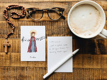 Load image into Gallery viewer, Saint Cecilia Notecards - Pack of 5