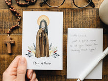 Load image into Gallery viewer, Clare of Assisi Notecards - Pack of 5