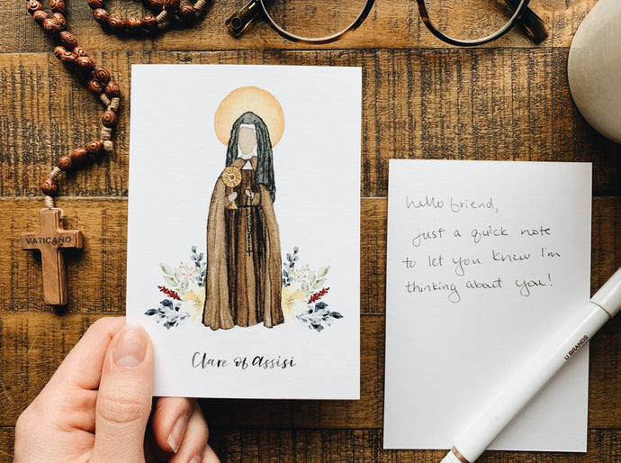 Clare of Assisi Notecard