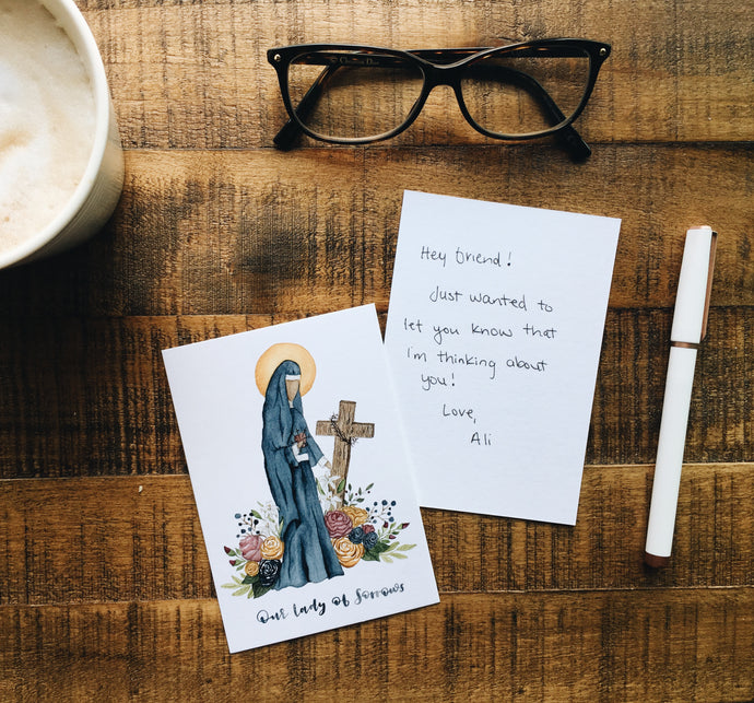 Our Lady of Sorrows Notecard