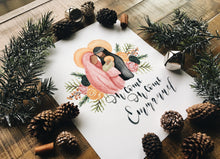 Load image into Gallery viewer, Holy Family Floral Christmas Print