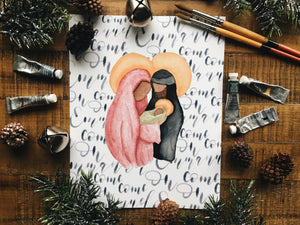 Holy Family Christmas Print