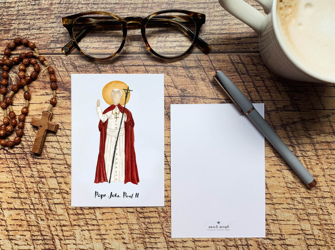 Pope John Paul II Notecard