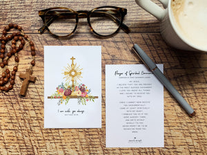 Spiritual Communion Prayer Card