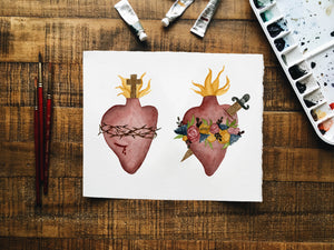 Immaculate and Sacred Heart Print
