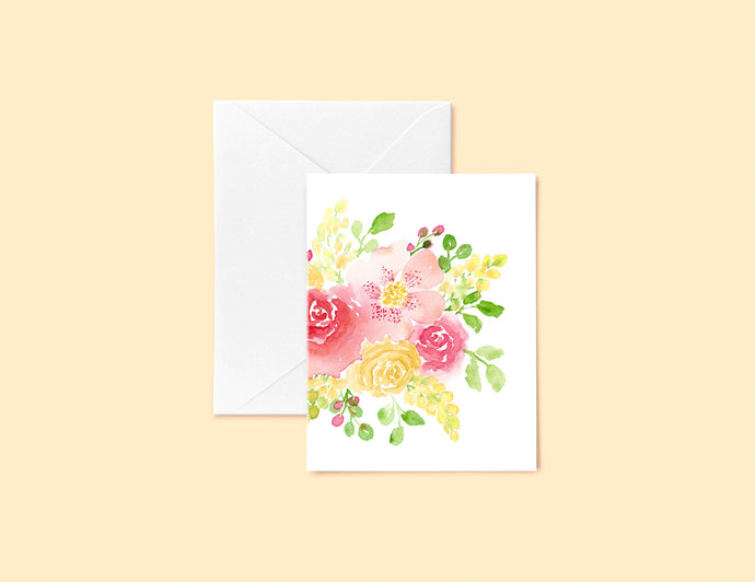 Peachy Floral Greeting Card