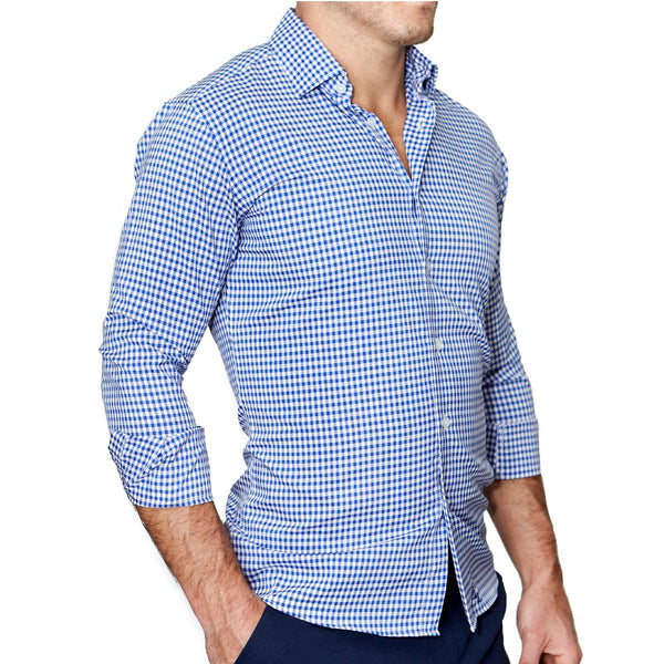 """The Bonino"" Blue Gingham"