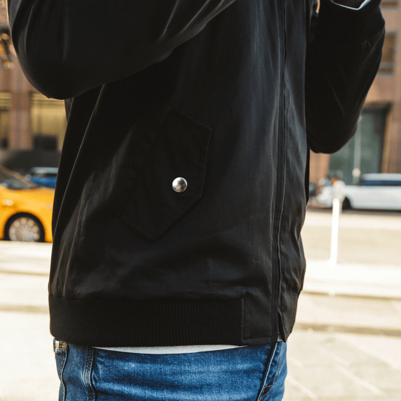 The Black Bomber Jacket