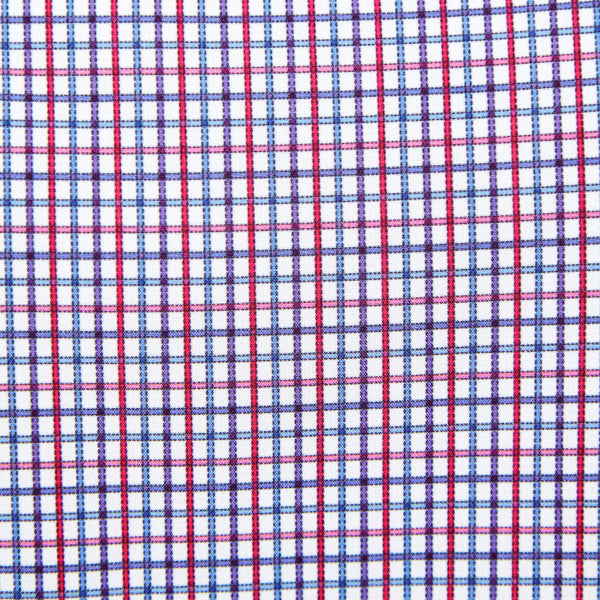 """The Gardiner"" Blue and Red Mini Windowpane"