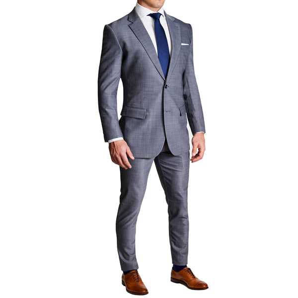 Athletic Fit Stretch Blazer - Heathered Grey (Ships in 5 Weeks)