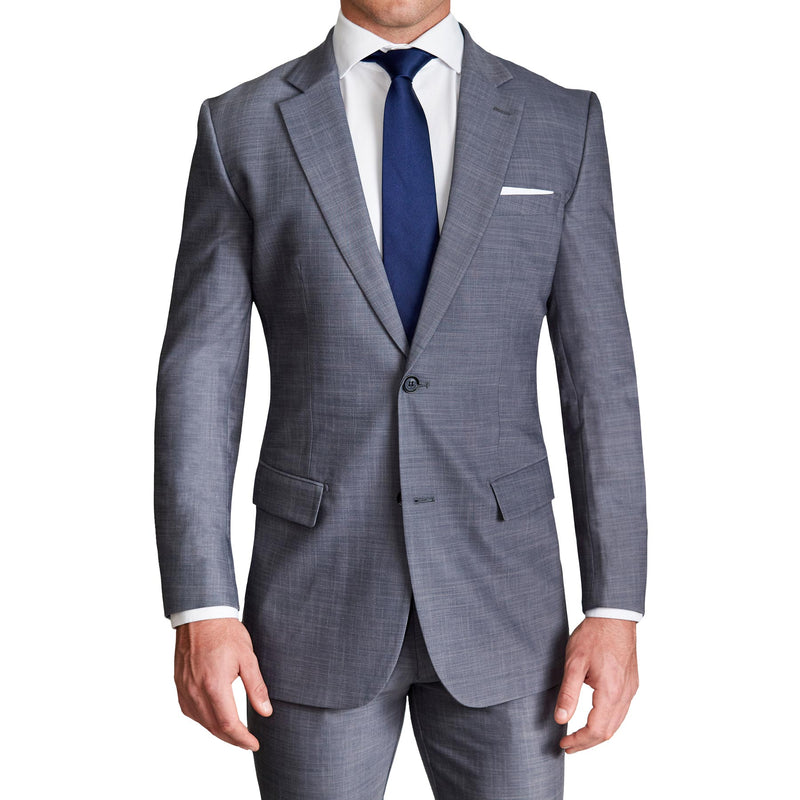 Athletic Fit Stretch Blazer - Heathered Grey