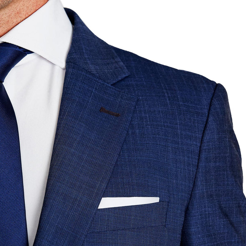 Athletic Fit Stretch Blazer - Heathered Navy