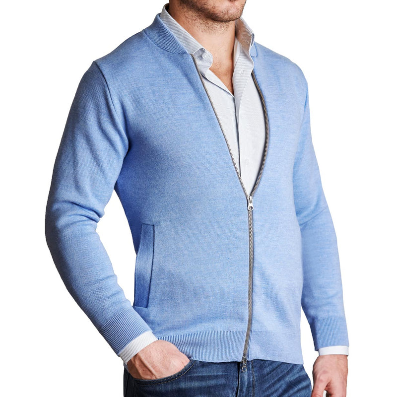 The Light Blue Sweater Bomber
