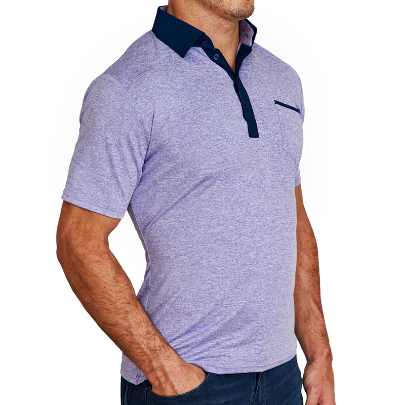 """The Louis"" Purple Tech Polo"