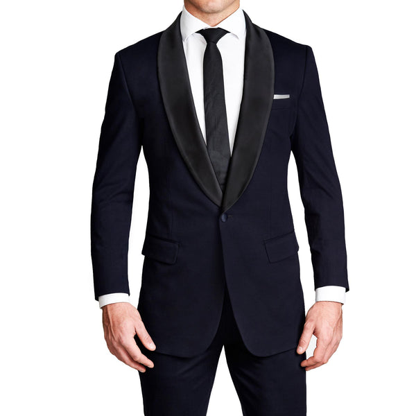 Athletic Fit Stretch Tuxedo - Navy with Shawl Lapel (Ships in 5 Weeks)
