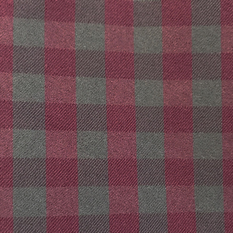 """The Raven"" Maroon and Grey Gingham"