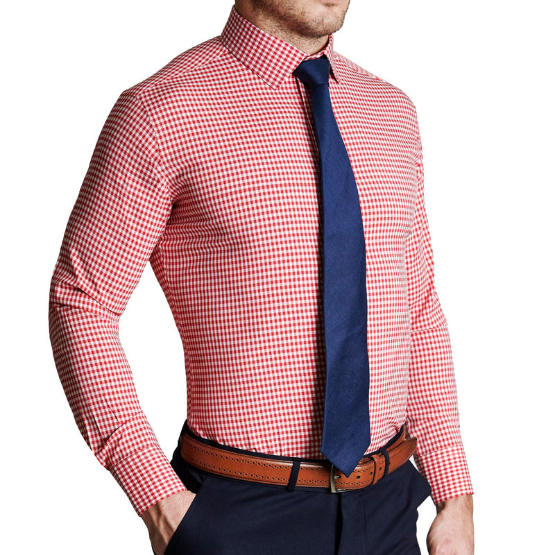 """The Clyde"" Red Gingham"