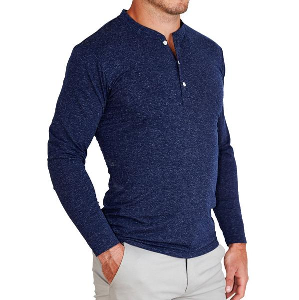 """The Webster"" Navy Long Sleeve Henley"