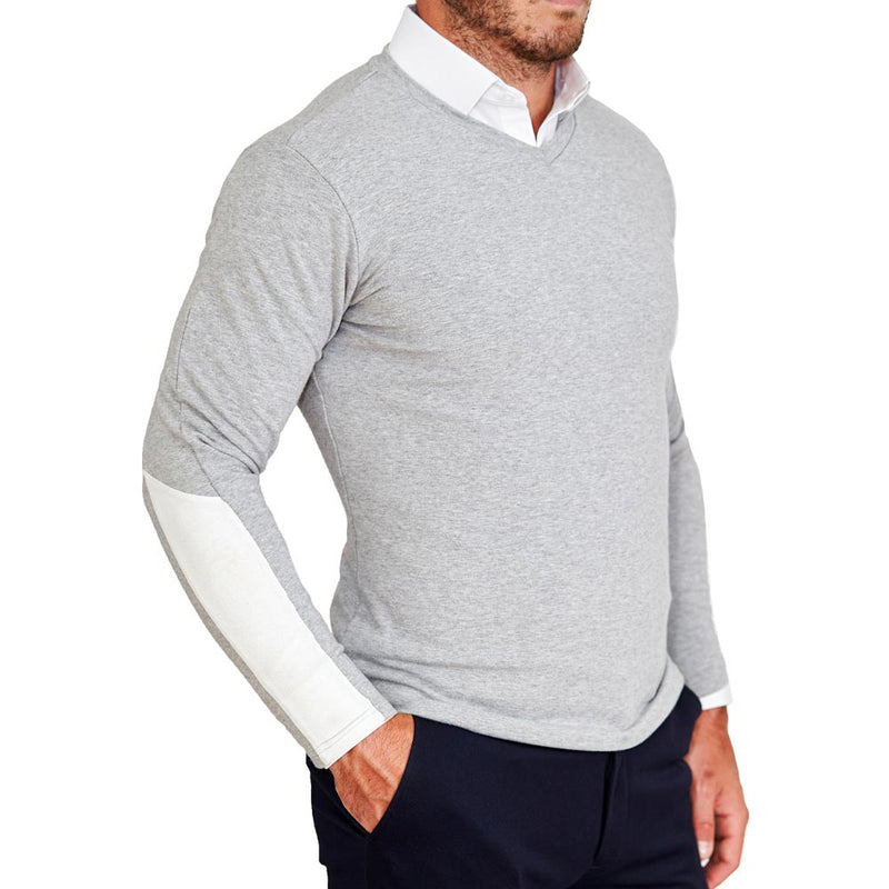 Grey V-Neck Sweater