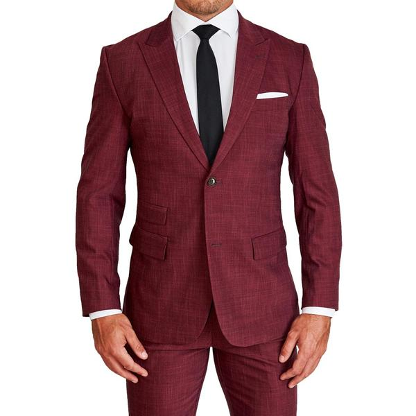 Athletic Fit Stretch Blazer - Heathered Maroon (Ships in 5 Weeks)