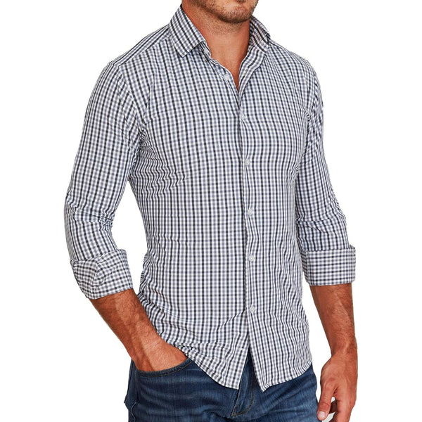 """The Sherman"" Grey and Black Gingham"