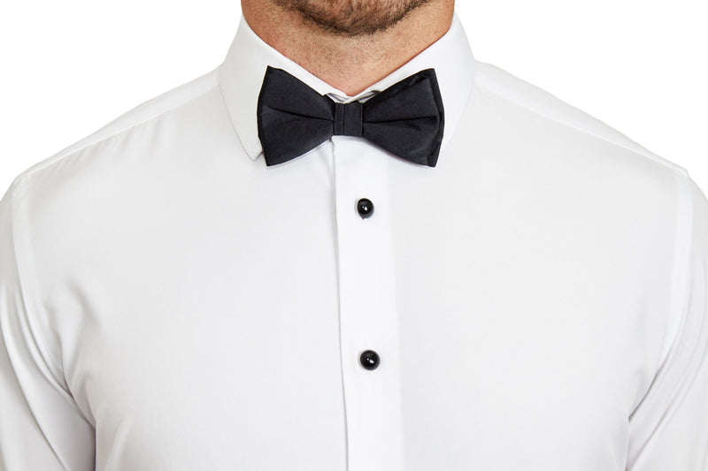 The Solid White Tuxedo Shirt (Ships in 4 Weeks)