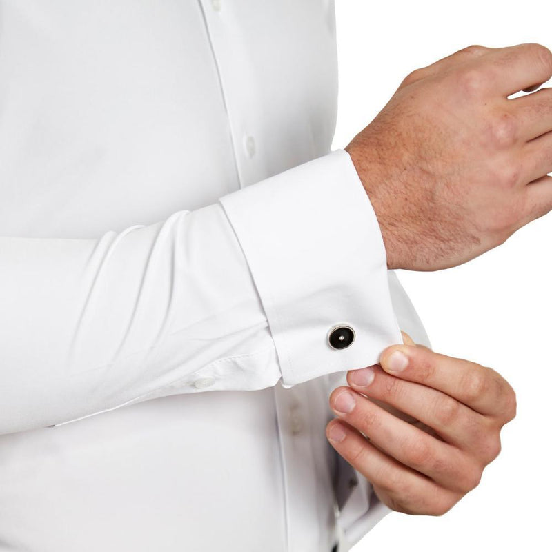 """The Springer"" Solid White - French Cuff"