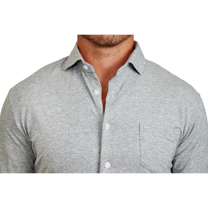 """The Tyson"" Grey Cutaway Casual Button Down"