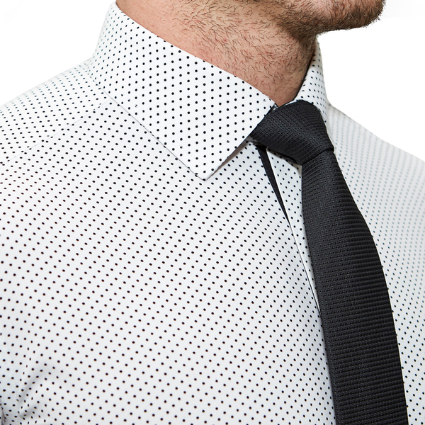 """The Tatar"" White With Black Polka Dots"
